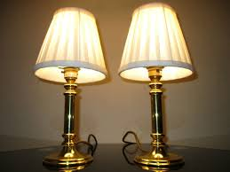 solid brass lamps methods to suit your home with vintage and candlestick table lamp handsome pair