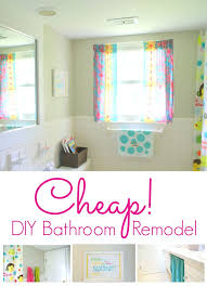 Small Picture Diy Bathroom Renovation Cheap bathroom remodels on a budget home