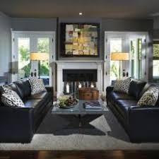 Black leather couch Reclining Cool Gray Living Room With Black Leather Sofas Photos Hgtv Photos Hgtv