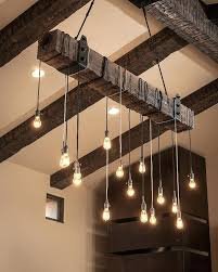string lights reclaimed wood unique lighting modern industrial home decor rustic style interior design bathroom light