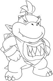Small Picture Bowser Jr Mario Coloring Page Bowser Coloring Pages Bowser