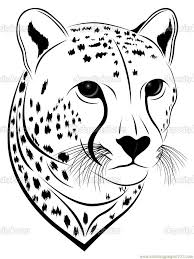 Good Jaguar Animal Coloring Pages With Page And Smiley For