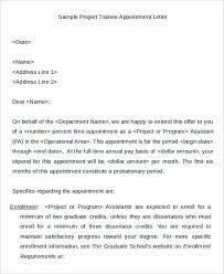 5+ Trainee Appointment Letter Template - Free Sample, Example Format ...