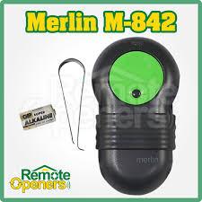 m832 merlin garage door remote control handset