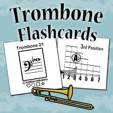Bass Trombone Position Chart Pdf Trombone Fingering Slide Position Chart And Flashcards