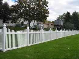 White fence Beach Chalet Picket Fence Ranch Life Plastics Picket Fence Vinyl Fence In Variety Of Colors And Styles