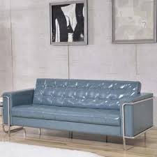gray leather couch. Myron Contemporary Sofa Gray Leather Couch