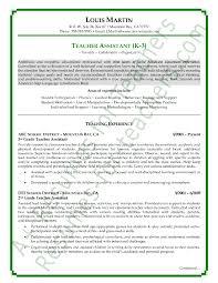 Sample Teacher Objectives For Resume