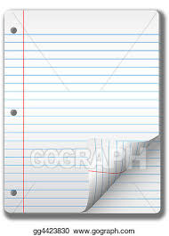 wide ruled notebook paper pages page curl background