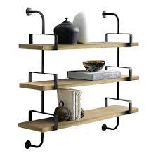 2pcs wall mounted shelf industrial