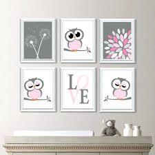 baby girl nursery art decor owl wall dream big little one south africa