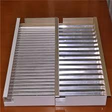 corrugated aluminum cladding sheet for
