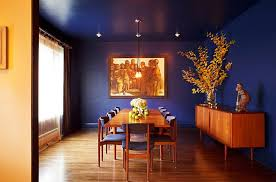 blue dining rooms. dining room for those who absolutely love deep and rich blue! [design: edward blue rooms