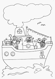 Kleurplaat Sinterklaas Stoomboot Soort Home Repair Care