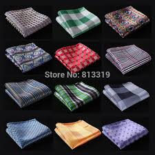 Big Offer #6602 - CE Check Floral Men Silk Satin Pocket Square ...