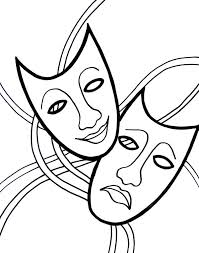 Small Picture MASKS coloring pages Venice Mask with Mask Coloring Pages
