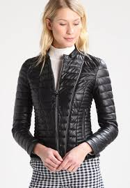guess vona faux leather jacket jet black frost women clothing jackets black guess job multiple colors