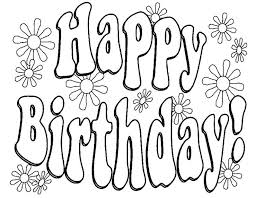 Happy Birthday Coloring Pages For Friends