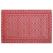 garden treasures red rectangular indoor outdoor woven area rug common 5 x 7