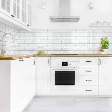 Bilderwelten Rivestimento Cucina - Mattonelle in Ceramica Bianche 70 x 150  cm Smart: Amazon.it: Casa e cucina