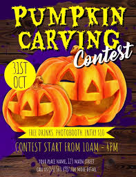 pumpkin carving contest flyer pumpkin carving contest flyer template postermywall