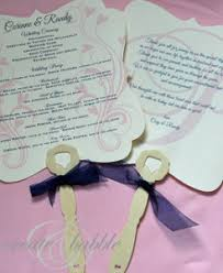 Wedding Program Fans Cheap Fancy Wedding Program Fans Allfreediyweddings Com