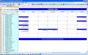 Excel Calendar Monthly Monthly Event Calendar Excel Templates
