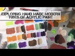 Exploring <b>Hand Made Modern</b> Tubes of Acrylic Paint - YouTube
