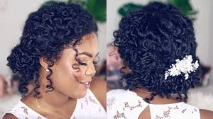 Wedding Hairstyle For Natural Curly Hair Youtube Wedding Styles For Naturally Curly Hair