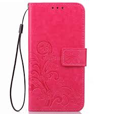 embossing imprint four leaf clover leather wallet case for htc 10 evo htc bolt