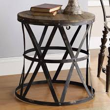 furniture gorgeous round wood end table w glass tables with items for page small white
