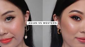 asian makeup v s western makeup