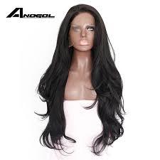 <b>Anogol Natural Hairline</b> Glueless <b>High</b> Temperature Fiber Hair Wigs ...