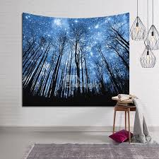 55 magical forest galaxy stars le decorative hanging wall tapestry