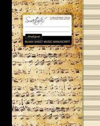Blank Sheet Of Music Blank Sheet Music Smart Bookx 9781519108708