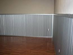 corrugated metal wainscoting top garage