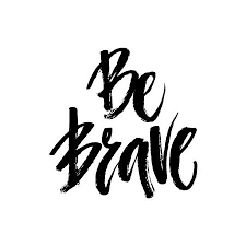 Ung Quote Amazing Grunge Lettering Of A Phrase Be Brave Unique Quote Drawn By