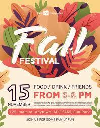 Fall Festival Flier Fall Festival Free Event Flyer Template Freebie Freepsdflyer
