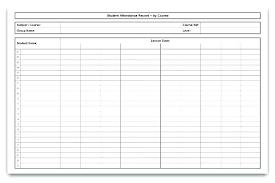 Blank Attendance Chart Template Printable Sheet – Clicktips.info