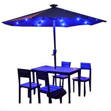 Blue Patio Umbrella With Lights Amazon Com Parasol Lzpq Patio Umbrella Lights Lighting
