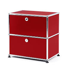 red bedside table. Perfect Red USM Haller Bedside Table With 2 Dropdown Doors Ruby Red Throughout Red M