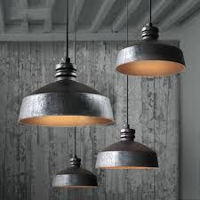 pendant light industrial large chrome industrial pendant light