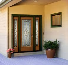business glass front door. Custom Wood Entry Door With Decorative Glass And Double Sidelites. Request YOUR OWN Design For A Truly Unique Personal Look! Business Front