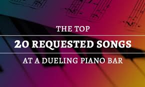 Minus williams, it's just some people standing about looking gormless while the guy who rolls the credits limbers up. The Top 20 Requested Songs At A Dueling Piano Bar