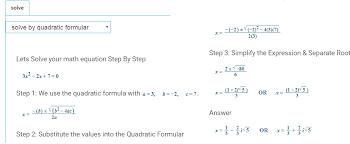quadratic function calculator