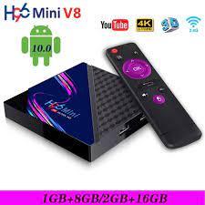 H96 Mini V8 Smart TV Box Android 10.0 RK3328A 2 GB + 16 GB 4K 3D 2,4G Wifi  Media Player PK T95 X96Q Von Gaoxinteam, 17,17 €