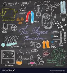 Science Physics Physics And Science Elements Doodles Icons Set