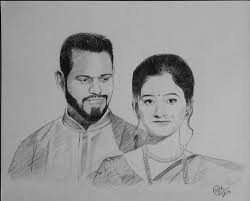 Pencil Sketches Of Couples Pencil Sketches Couple Portrait Drawing Manufacturer From