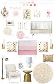 Pink And Gold Bedroom Decor Plenty Of Pink Gold Nursery Inspiration Add Caden Lanes Pink