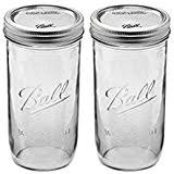 ball 9 count 24 ounce wide mouth jars with lids and bands. ball 24 oz jar, wide mouth, ounce (pack of 2) 9 count mouth jars with lids and bands a
